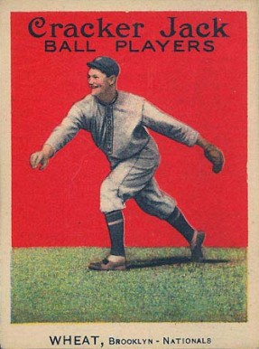 1914 Cracker Jack Zach Wheat #52 Baseball Card