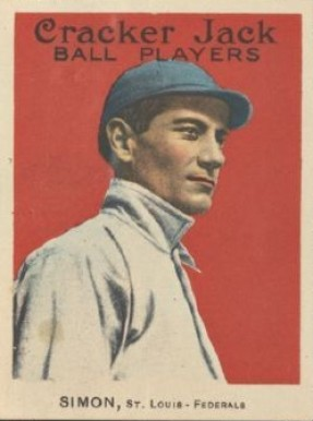 1914 Cracker Jack Mike Simon #25 Baseball Card