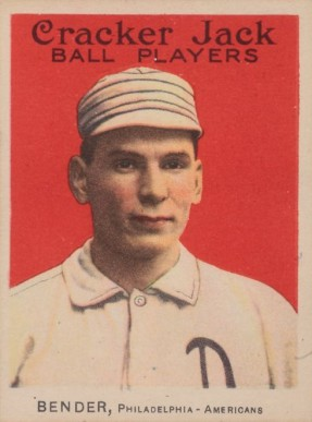 1914 Cracker Jack Chief Bender #19 Baseball Card