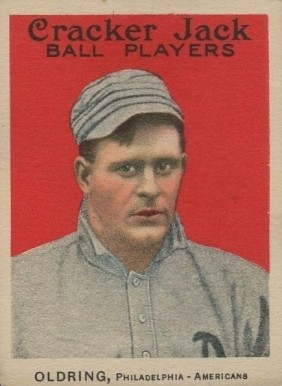 1914 Cracker Jack Rube Oldring #8 Baseball Card