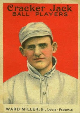 1914 Cracker Jack Ward Miller #5 Baseball Card