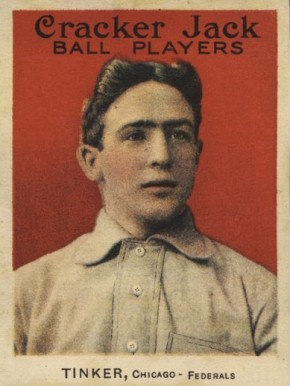1914 Cracker Jack Joe Tinker #3 Baseball Card
