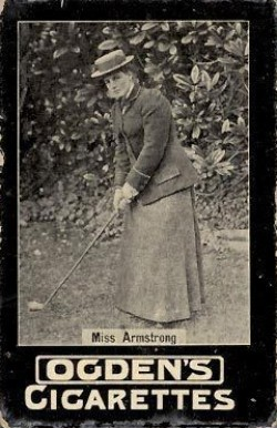 1902 Ogden's Ltd. Tabs (Golf) Miss Armstrong # Boxing & Other Card