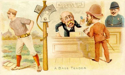 1893 Talk of the Diamond A Base Tender #1 Baseball Card