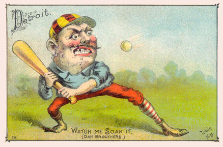 1887 Tobin Lithographs Color Dan Brouthers #3 Baseball Card
