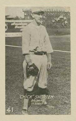 1922 W503 Strip Card Chick Shorten #41 Baseball Card