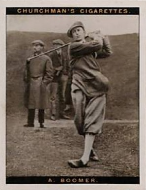 1928 Churchman (Famius Golfers-Large) Aubrey Boomer #2 Boxing & Other Card