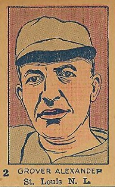 1926 W512 Strip Card Grover Alexander #2-CARDS Baseball Card