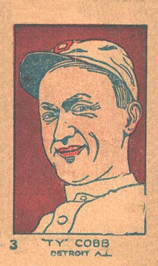 1926 W512 Strip Card Ty Cobb #3 Baseball Card