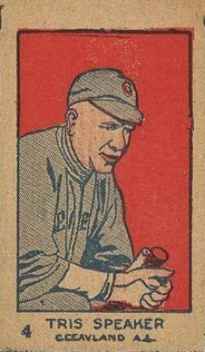 1926 W512 Strip Card Tris Speaker #4 Baseball Card