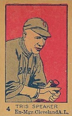 1926 W512 Strip Card Tris Speaker #4-EX MGR Baseball Card