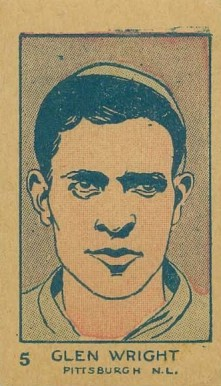 1926 W512 Strip Card Glenn Wright #5 Baseball Card