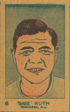 1926 W512 Strip Card Babe Ruth #6 Baseball Card
