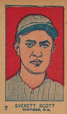 1926 W512 Strip Card Everett Scott #7-YANKS Baseball Card