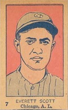 1926 W512 Strip Card Everett Scott #7-SOXS Baseball Card