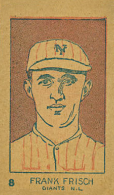 1926 W512 Strip Card Frankie Frisch #8-GIANTS Baseball Card