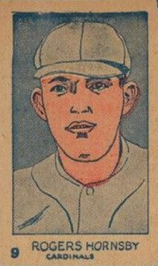 1926 W512 Strip Card Rogers Hornsby Cardinals 9 Cards Baseball