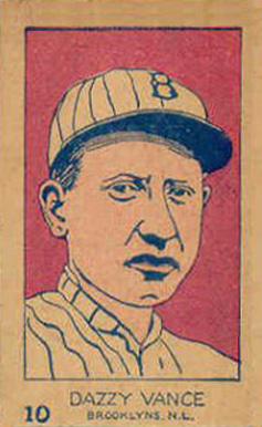 1926 W512 Strip Card Dazzy Vance #10 Baseball Card