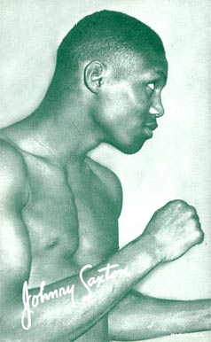 1947 Exhibits (1947-66) Johnny Saxton # Boxing & Other Card