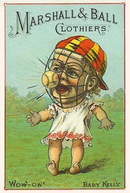 1887 Tobin Lithographs Color Baby Talk Series King Kelly # Baseball Card
