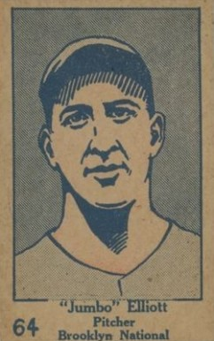 1928 W513 Strip Card Jumbo Elliot #64 Baseball Card