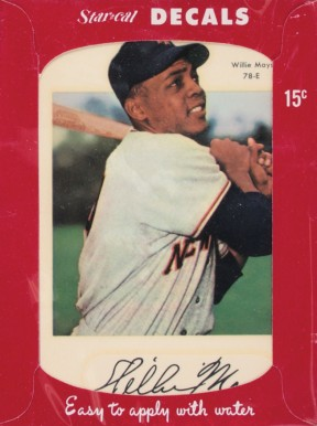 1952 Star Cal Decals Type 1 Willie Mays 78e Baseball Vcp Price Guide