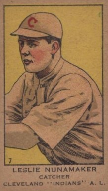1919 W514 Strip Card Leslie Nunamaker #7 Baseball Card