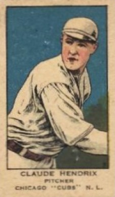 1919 W514 Strip Card Claude Hendrix #9 Baseball Card