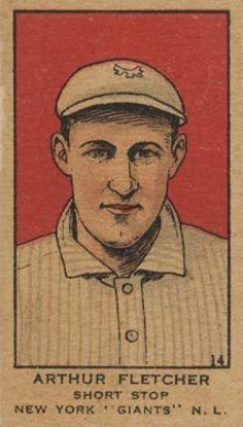 1919 W514 Strip Card Arthur Fletcher #14 Baseball Card