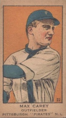 1919 W514 Strip Card Max Carey #22 Baseball Card