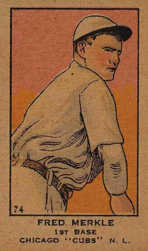 1919 W514 Strip Card Fred Merkle #74 Baseball Card