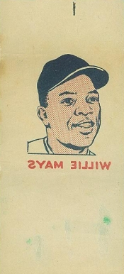 1960 Topps Tattoos Willie Mays # Baseball Card