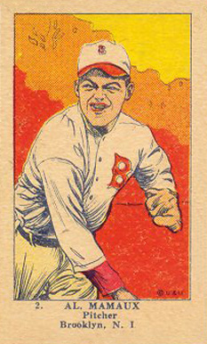 1923 W515-1 Strip Card Al Mamaux #2 Baseball Card
