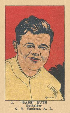 1923 W515-1 Strip Card Babe Ruth #3 Baseball Card