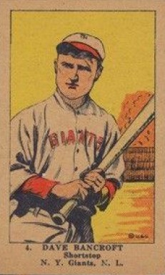 1923 W515-1 Strip Card Dave Bancroft #4 Baseball Card