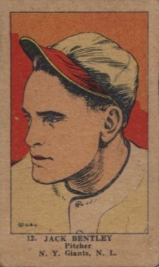 1923 W515-1 Strip Card Jack Bentley #12 Baseball Card