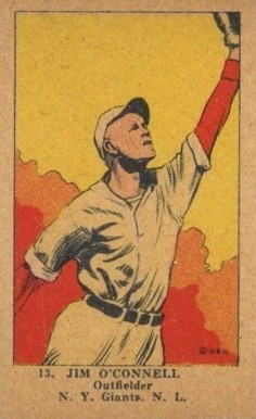 1923 W515-1 Strip Card Jim O'Connell #13 Baseball Card