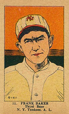 1923 W515-1 Strip Card Frank Baker #15 Baseball Card