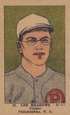 1923 W515-1 Strip Card Lee Meadows #23 Baseball Card