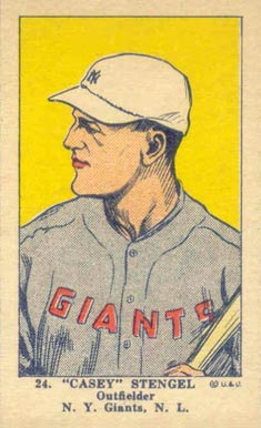 1923 W515-1 Strip Card Casey Stengel #24 Baseball Card