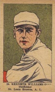 1923 W515-1 Strip Card Ken Williams #26 Baseball Card