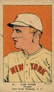 1923 W515-1 Strip Card Sam P. Jones #43 Baseball Card