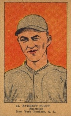 1923 W515-1 Strip Card Everett Scott #46 Baseball Card
