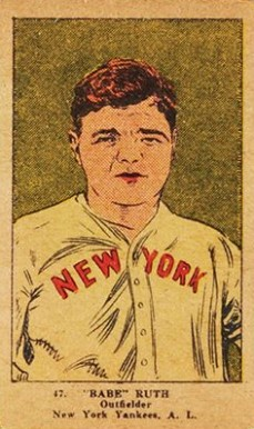 1923 W515-1 Strip Card Babe Ruth #47 Baseball Card