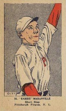 1923 W515-1 Strip Card Rabbit Maranville #50 Baseball Card