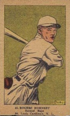 1923 W515-1 Strip Card Rogers Hornsby #55 Baseball Card