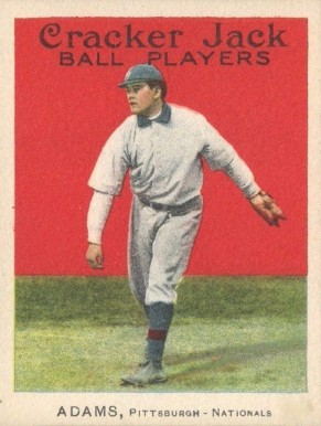 1915 Cracker Jack ADAMS, Pittsburgh-Nationals #63 Baseball Card