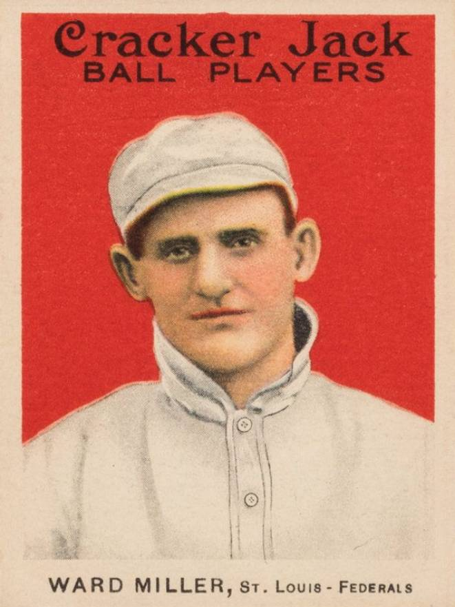 1915 Cracker Jack WARD MILLER, St. Louis-Federals #5 Baseball Card