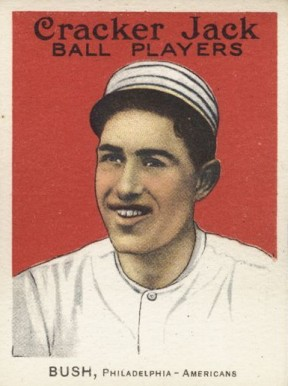 1915 Cracker Jack BUSH, Philadelphia-Americans #166 Baseball Card