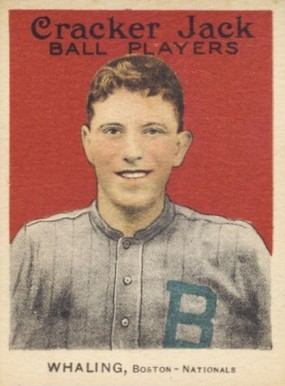 1915 Cracker Jack WHALING, Boston-Nationals #163 Baseball Card
